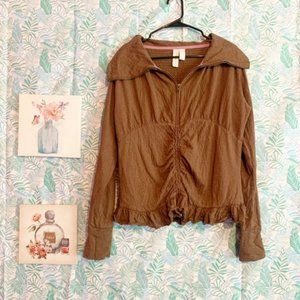 Matilda Jane Brown Textured Ruffle Jacket